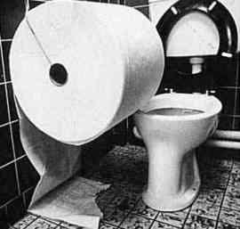 huge toilet paper