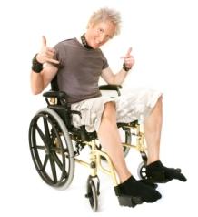 Rocker In A Wheelchair
