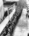 long line up of people from 1940's