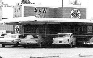 Newt's A&W Stockton California 1965