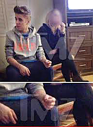 justin bieber with his joint
