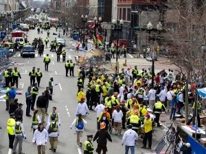 Two Explosions Near Finish Line at Boston Marathon