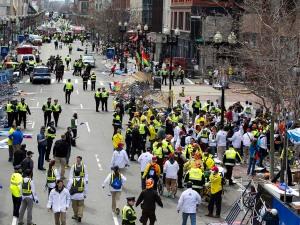 Two Explosions Near Finish Line at Boston Marathon