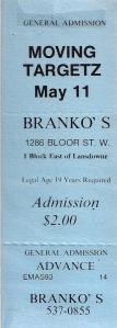 Branko's Ticket