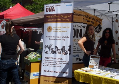 Dog DNA Testing Booth