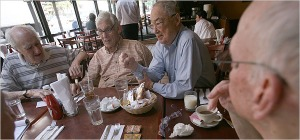 old guys eating