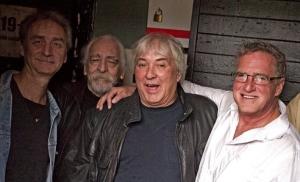 Macko, Bob, Dave Diamond, and David Rourke at Reggie's
