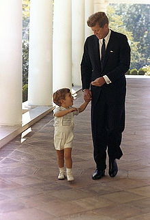 kennedy jr with dad
