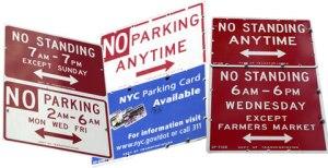 NYC no parking
