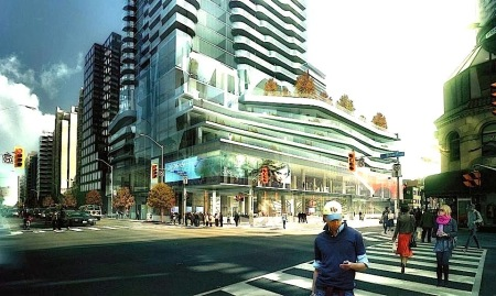 yonge and bloor 1970 drawing