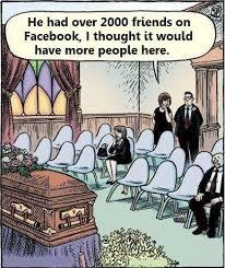 facebook friends funeral