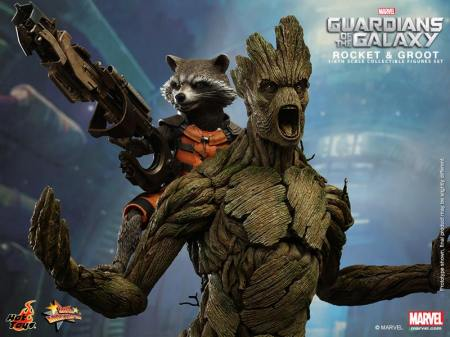 Groot and Rocket Action Figures