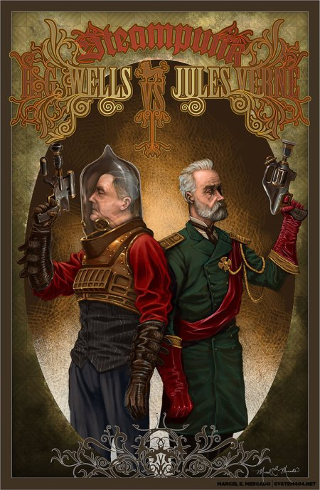 HG Wells and Jules Verne