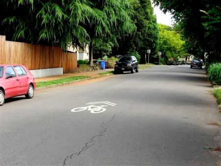 bike lanes on side streets