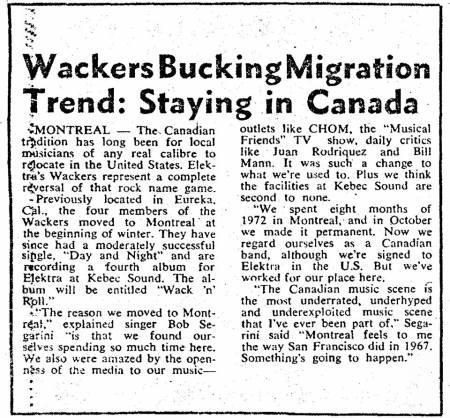 Wackers Migrate
