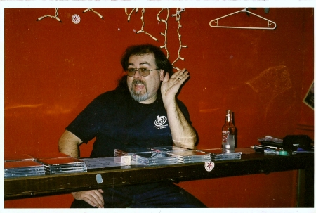 Merch table_Hamilton_Dave Rave_2002
