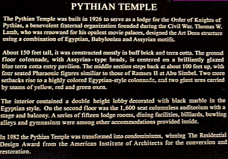 Pythian Temple - 135 West 70th Street, New York, NY