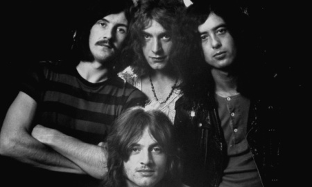 Rock music group Led Zeppelin. (Photo by