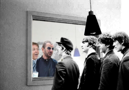 Beatles then and now