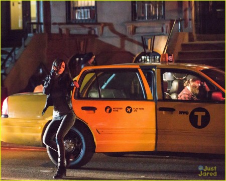 Getting out of a cab