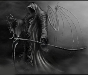 grim reaper with sythe