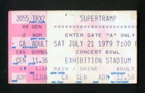 Supertramp ticket 1979