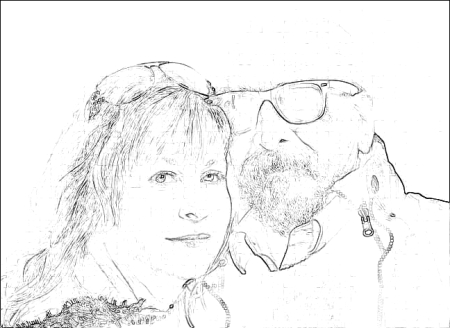 Bob and You pencil sketch