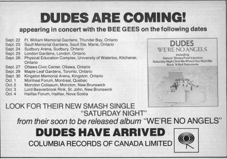 Dudes BeeGees Tour