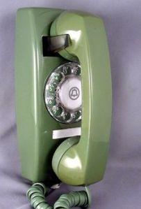 Olve Green Wall Phone