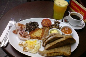 full english brekky