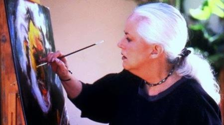 Grace Slick painting