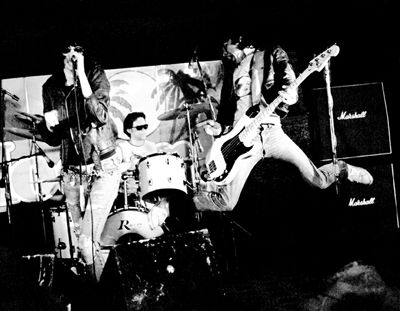 Ramones on stage at the ElMo