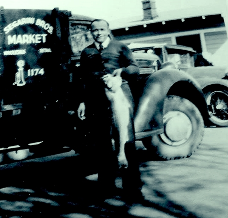 Segarini My Dad in 1932 with the Segarini Brothers 1st truck