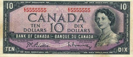 10 old canadian dollars