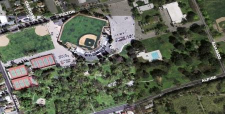 Aerial shot of Oak Park