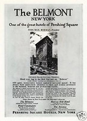Belmont  Hotel ad