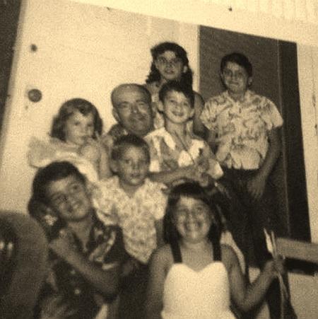 John Segarini and all the Cousins Sepia