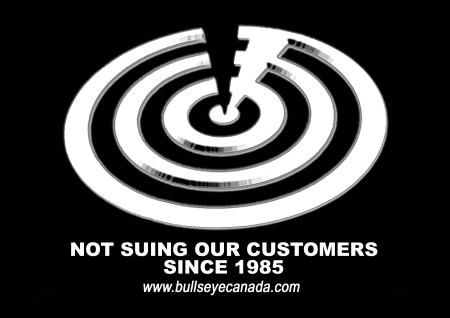Bullseye Not Suing Our Customers
