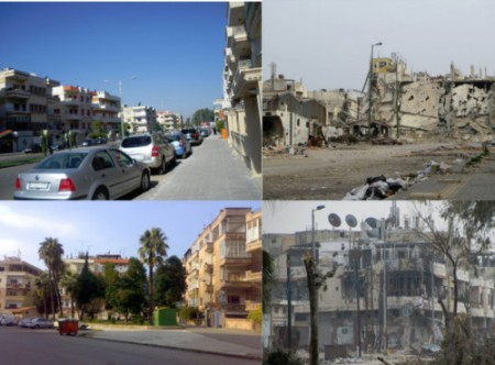 syria pre and post war