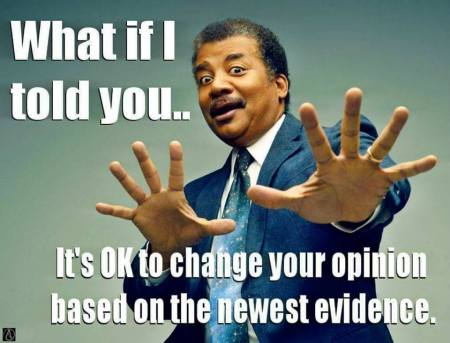 its okay to change your opinion