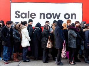 Sale crowd