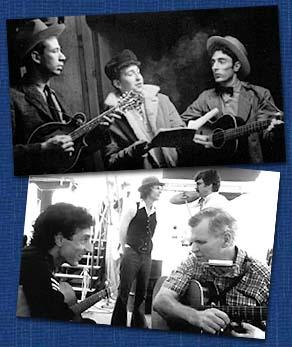 Woody Guthrie, Pete Seger, Doc Watson, Bob Dylan