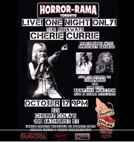 Ad for Cherie Currie