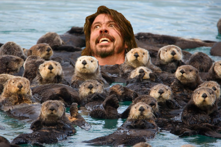 Grohl with otters