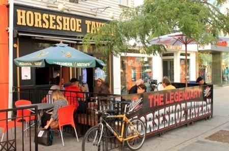 Horseshoe patio