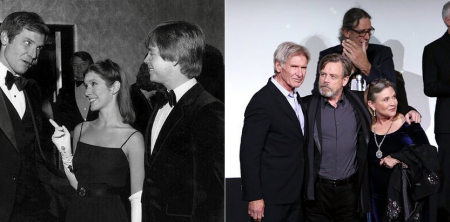 Then and Now Star Wars Cast