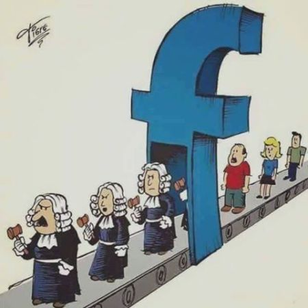 facebook judges and lawyers