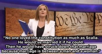samantha bee on Scalia
