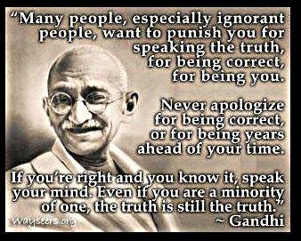 Speak-your-truth Ghandi