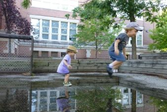 Marshall and Tilda Puddle Jumping